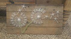 dandelion string art wood - Google Search