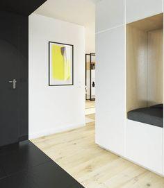 Du design dans un studio à Varsovie: 45 square meters