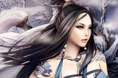 Girl, warrior, wind, winter, fantasy wallpapers