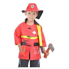 Boys Costumes Smart M~xl New Fireman Boys Cosplay Hallowean Children Dress Up Party Fancy Stage Carnival Costume Kids Firefighters Uniform Suit Costumes & Accessories