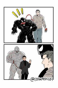 Venom Comics, Marvel Venom, Avengers Comics, Avengers Memes, Marvel Art, Marvel Memes, Comic Book Characters, Marvel Characters, Eddie Brock Venom
