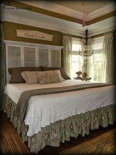 Bedroom - ABSOLUTELY GORGEOUS!! - LOVE THE 'BEDHEAD' LOVE THE DECOR!! - LOVE THE COLOURS!! - LOVE!! LOVE!! THIS GLORIOUS BRDROOM!! ⚜