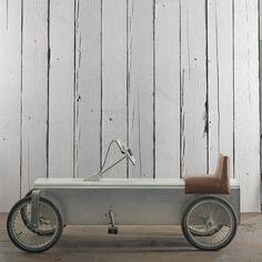 tienda online telas & papel | Papel pintado con anchos listones de madera…