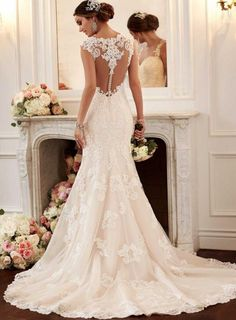 Trendy Stella York Wedding Dresses You Will Adore ❤ See more: www.weddingforwa… Trendy Stella York Wedding Dresses You Will Adore ❤ See more: www. Wedding Dresses With Straps, 2016 Wedding Dresses, Wedding Dress Styles, Bridal Dresses, Dress Wedding, Wedding Dresses Fit And Flare, Event Dresses, Tulle Wedding, Wedding Dresses Stella York