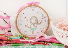 Spring blossom Baby girl nursery wall art by TamarNahirYanai