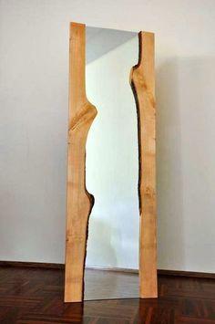 LUSTRO w drewnianej ramie JEDNORAZOWY EGZEMPLARZ w Acoco na DaWanda.com  #ACOCO#