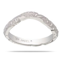 WEdding band? Flower and leaf engraved contoured band measuring 2.5mm wide and 1.8mm high. Matches F1134, F1137, F1246, BL2983 and DM4491 - Jabel