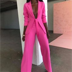 Ohvera Bow Ladies Suit Women Suits Office Sets Casual Blazer And Pants Set Formal Two Piece Set Terno Feminino Casual Blazer, Casual Suit, Casual Wear, Formal Pant Suits, Dress Casual, Look Fashion, Fashion Clothes, Fashion Outfits, Womens Fashion