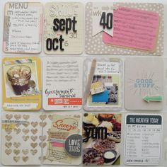 Amy Tangerine's Cut and Paste Pages by #CraftWarehouse #ProjectLife Design Team Member April Joy Hill