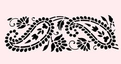 "PAISLEY STENCIL LEAF LARGE PAISLEYS BORDER CRAFT TEMPLATE STENCILS NEW 8"" X 18"""