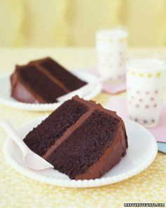 Baking an easy dessert like this chocolate cake can be almost as thrilling for a birthday girl or boy as blowing out the candles.