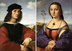 Raffaello Sanzio: Coniugi Doni (Maddalena e Agnolo Doni) 1505, Galleria Palatina, Palazzo Pitti, Firenze.