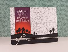 Love You by Chari Moss - using Lawn Fawn dies and Distress Ink for night sky. Beautiful!