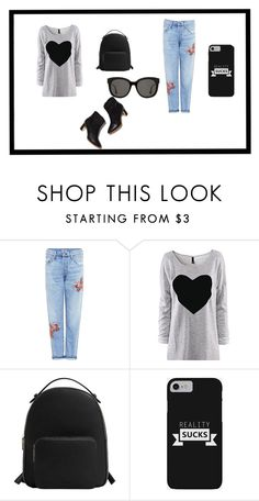 """Untitled #21"" by biancaradu-1 on Polyvore featuring Citizens of Humanity, MANGO and Gentle Monster"