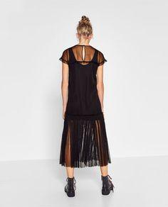 Image 4 de ROBE MI-LONGUE EN TULLE de Zara