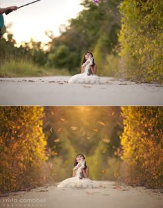 before and after adding leaf overlays by Krista Campbell