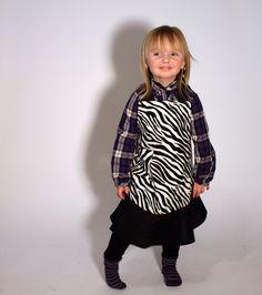 zebra print apron  girls one size fits most by jordandene on Etsy, $30.00