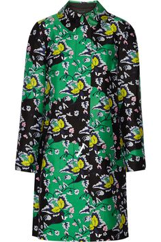 Diane von FurstenbergAmana printed wool and silk-blend coat