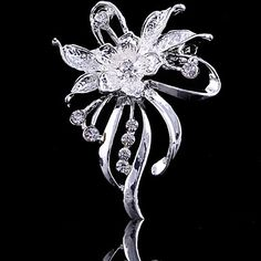 Women's Flower Brooch for Wedding Party Decoration Scarf ,Fine Jewelry,Random Color 4853825 2016 – $2.99