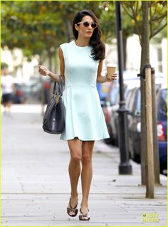 amal alamuddin george clooney america can resolve sudan 03 Amal Alamuddin is super chic in a pastel-colored mini dress while out and about on Friday (June 13) in London, England.    The day after, the 36-year-old lawyer…