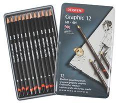 Derwent Graphic Drawing Pencils, Medium, Metal Tin, 12 Count (34214), http://www.amazon.com/dp/B000J69KZQ/ref=cm_sw_r_pi_awdm_RyxGwb1FCG2B1