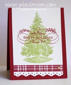 Julie's Stamping Spot -- Stampin' Up! Project Ideas Posted Daily: Embossed Christmas Lodge Card