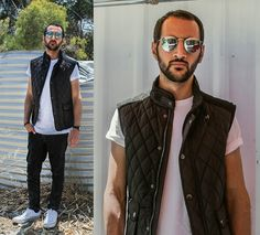 Get this look: http://lb.nu/look/6955386  More looks by Shidan S: http://lb.nu/user/3888832-Shidan-S  Items in this look:  Zara Nylon Waistcoat, Ray Bans Round Frames