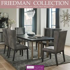 It's time for another edition of Donny Osmond Tuesday!   And this week we feature the ultra contemporary Friedman Dining Room Collection which boasts clean geometric patterns and rustic worn wood pieces.   Check out more Donny Osmond Exclusive products using our link below:   #DonnyOsmondHome #DonnyOsmond #DOHByCoaster #Decor #HomeDecor #HomeImprovement #HomeMakeover #HomeFurnishing #HomeGoals #InteriorDesign #Interior123  #CoasterCompany #Coaster