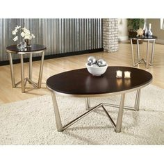 Galaxy Espresso Occasional Table Set by Greyson Living (Galaxy Brown Cherry Wood Coffee Table, 3 Piece Coffee Table Set, Pc Table, End Table Sets, Dining Table, Sofa End Tables, Coffee And End Tables, Occasional Tables, Steve Silver Furniture