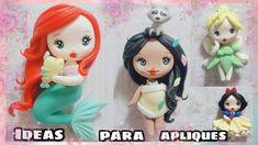 Biscuit, Disney Word, Cute Polymer Clay, Pasta Flexible, Miniature Food, Ideas Para, Fondant, Elsa, Collars