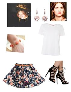 """Floral, Lydia Martin inspired"" by hnp003 ❤ liked on Polyvore featuring MaxMara, Effy Jewelry, women's clothing, women's fashion, women, female, woman, misses and juniors"