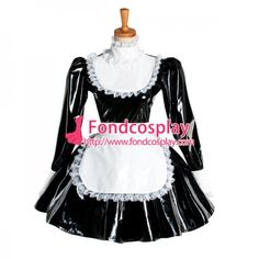 Lockable Sissy Maid Dress Pvc Maid Uniform Cosplay Costume Tailor-Made[G1051]