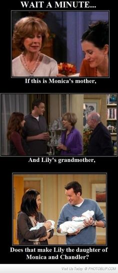 You have to admit, it wouldn't be shocking at all if chandler was her dad, he WOULD be the one to think coming up with a board game was the greatest career idea of all time.