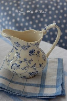 Rhapsody by Skye McGhie Aiken House & Gardens ~ Blue and White Transferware Lunch Blue Dishes, White Dishes, Blue And White China, Blue China, Bleu Pastel, Country Blue, Chinoiserie Chic, White Cottage, Royal Copenhagen