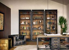 masculine office kathy kuo home