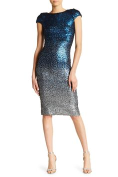 5d1d298e35a Marcella Cap Sleeve Scoop Back Sequined Dress by Dress the Population on   HauteLook Pretty Little