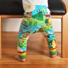 Baby leggings pattern with cuffs pdf file by brindilleandtwig