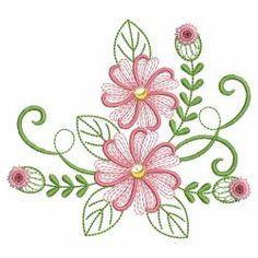Swirly Flowers 07(Sm) machine embroidery designs