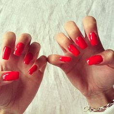 #red #nails #manicure    See more nail designs at http://www.nailsss.com/nail-styles-2014/