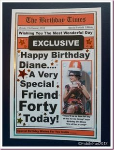 Hairdressers Newpaper Birthday card