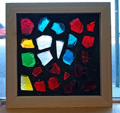 dalle de vere frame Mosaic Art, Mosaics, Dallas, Glass Houses, Faceted Glass, Stained Glass, Cube, Glass Art, Frame