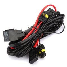 Kensun HID Conversion Kit Universal Single Beam Relay Wiring Harness - H1 H3 H7 H8 H9 H10 H11 9005 9006 5202 880 881 9140 9145 - Kensun HID Conversion Kit Universal Single Beam Relay Wiring HarnessAnnoying flickering? Factory headlight outputs are designed to power a halogen light bub, not an HID ballast, therefore flickering can occur. A relay harness is designed to deliver steady voltage to your HID ballasts directly fro...