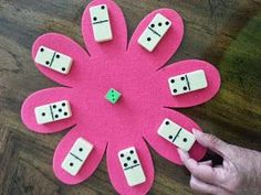 Math Games with Dice and Dominos A fun game for recognizing different combinations of a number - two levels of play.A fun game for recognizing different combinations of a number - two levels of play. Math Classroom, Kindergarten Math, Teaching Math, Teaching Ideas, Math Stations, Math Centers, Math School, Math Addition, Addition Games