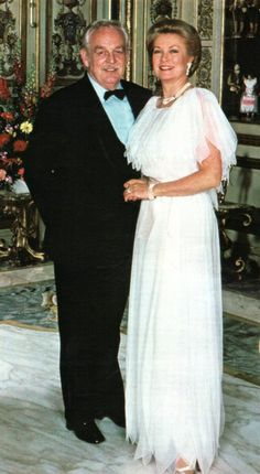 Prince Rainier & wife Princess Grace of Monaco 1980s                                                                                                                                                      Mais