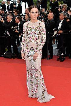 Elsa Zylberstein, fidèle du tapis rouge. (Cannes, 12 mai 2016.)