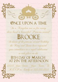 Once Upon a Time Invitation by GiggleBB on Etsy. PERFECT! @brittanyneese