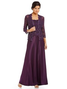 Long Length Mother Of The Bride Gown With Jacket Eleventhdress Alex Evenings