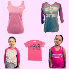 All Things Pink From Gold Stripes Clothing