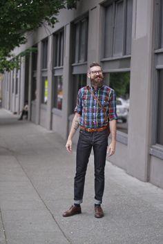 #Seattle #Menswear #Streetstyle #MONOBI #beard Street Clothes, Street Outfit, Men Street, Seattle, Menswear, Street Style, Suits, My Style, Fashion
