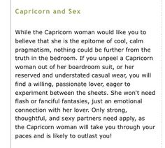 Capricorn sexuality female